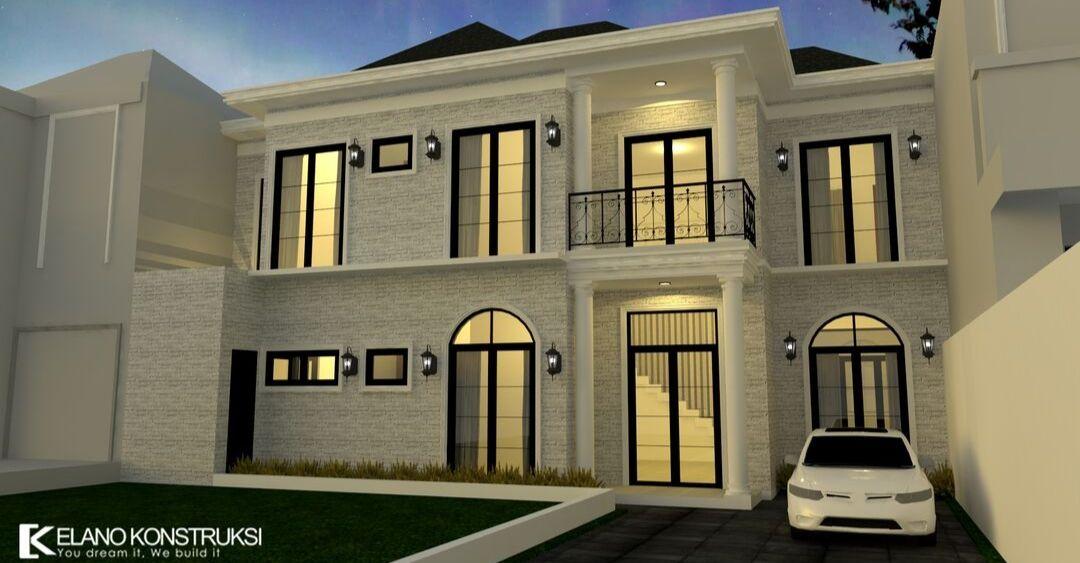 jasa arsitek desain rumah 1 - Desain Rumah Klasik Bapak Irza Cinere Jawa Barat