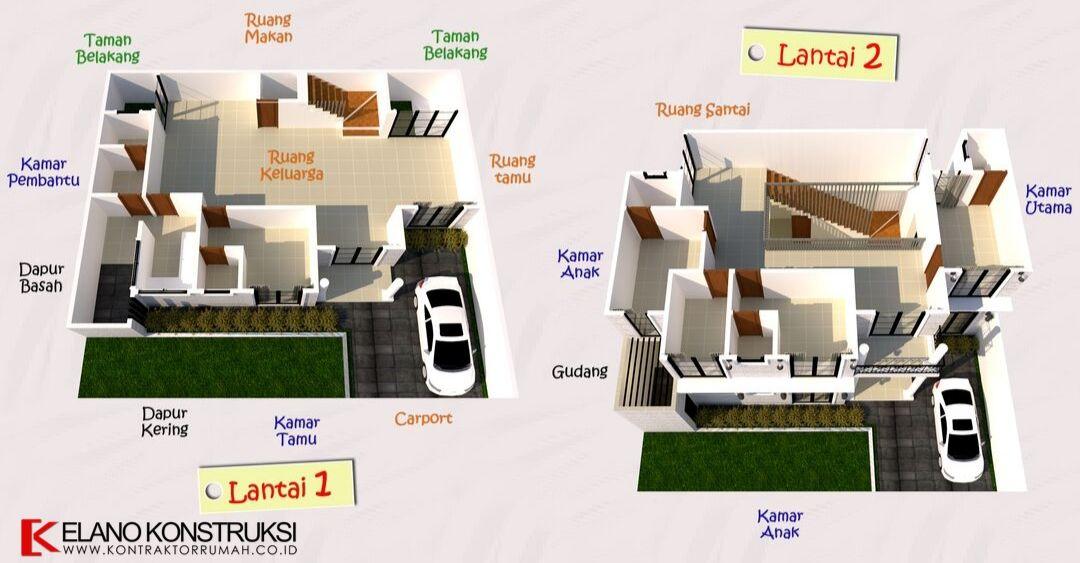 jasa arsitek desain rumah 2 - Desain Rumah Klasik Bapak Irza Cinere Jawa Barat