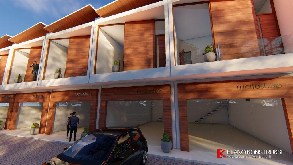 ruko 4 1500px 1024x576 - Desain Ruko Modern Tropis 72 M2 Walantaka Serang Banten