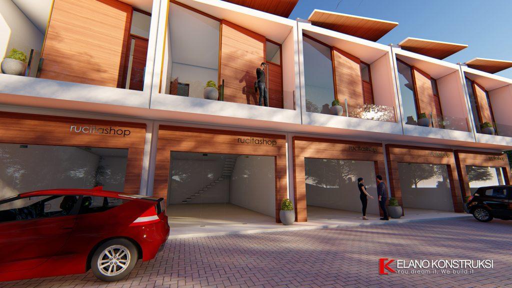 ruko 5 1500px 1024x576 - Desain Ruko Modern Tropis 72 M2 Walantaka Serang Banten