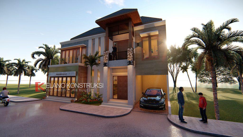 2b copy ok 1024x576 - Desain Rumah Villa Bali Ibu Siti 180 M2 Indramayu