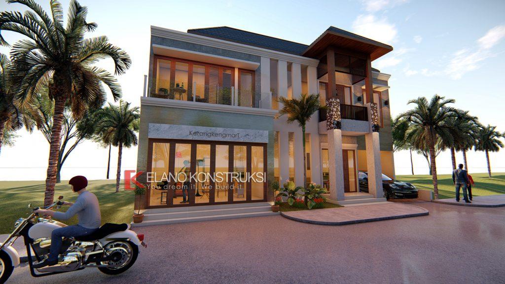 3B copy ok 1024x576 - Desain Rumah Villa Bali Ibu Siti 180 M2 Indramayu