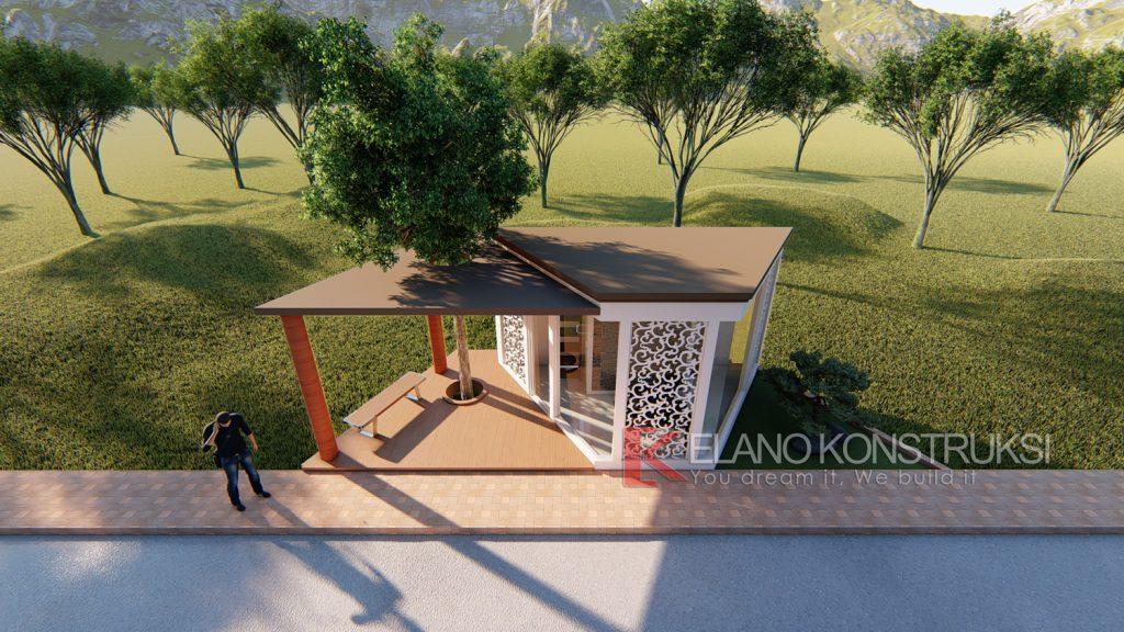 pos 5 copy 1024x576 - Desain Pos Satpam Rasa Taman 4x10 Banten