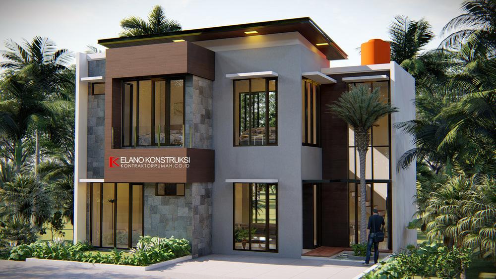 1 - Desain Rumah Modern Bapak Fadli 100 M2 Bekasi