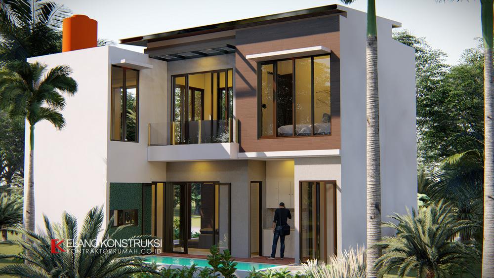 4 1 - Desain Rumah Modern Bapak Fadli 100 M2 Bekasi