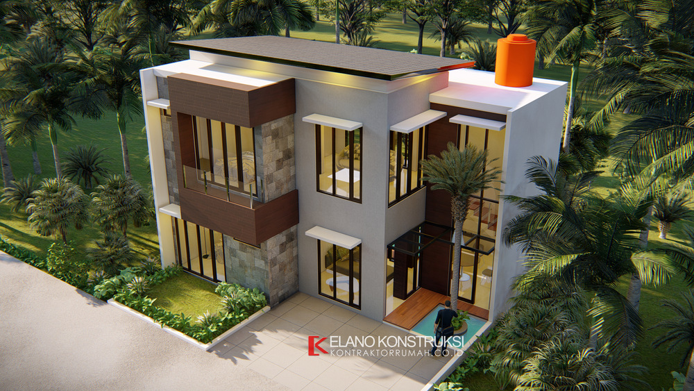 6 - Desain Rumah Modern Bapak Fadli 100 M2 Bekasi
