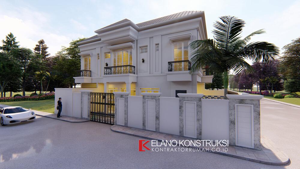 x1 - Desain Rumah Klasik Bapak Difal 260 M2 di Jakarta