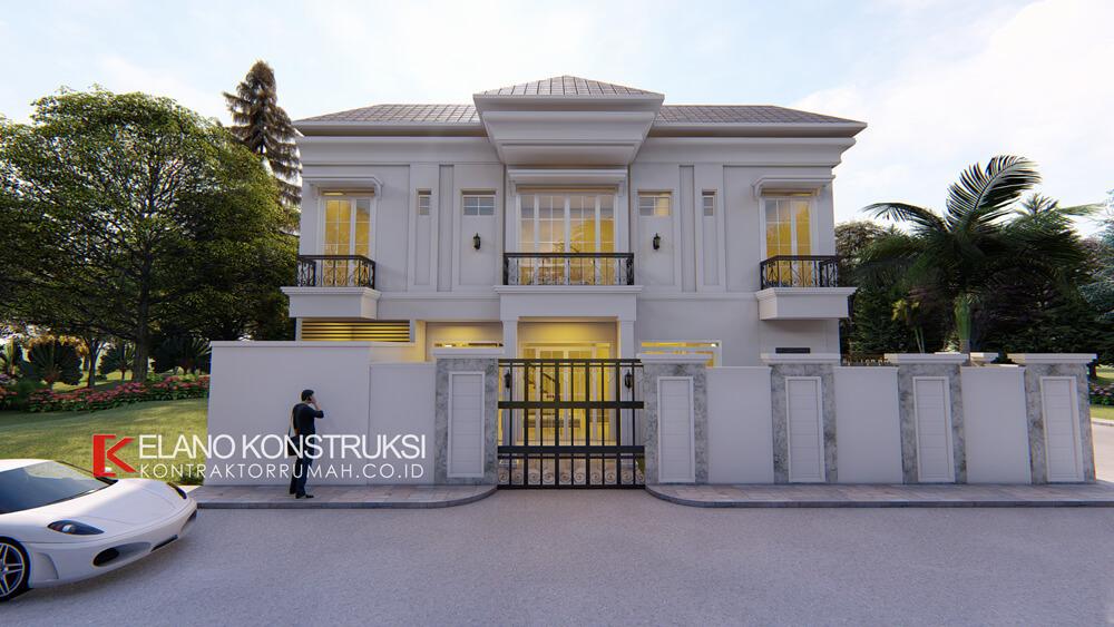x2 - Desain Rumah Klasik Bapak Difal 260 M2 di Jakarta