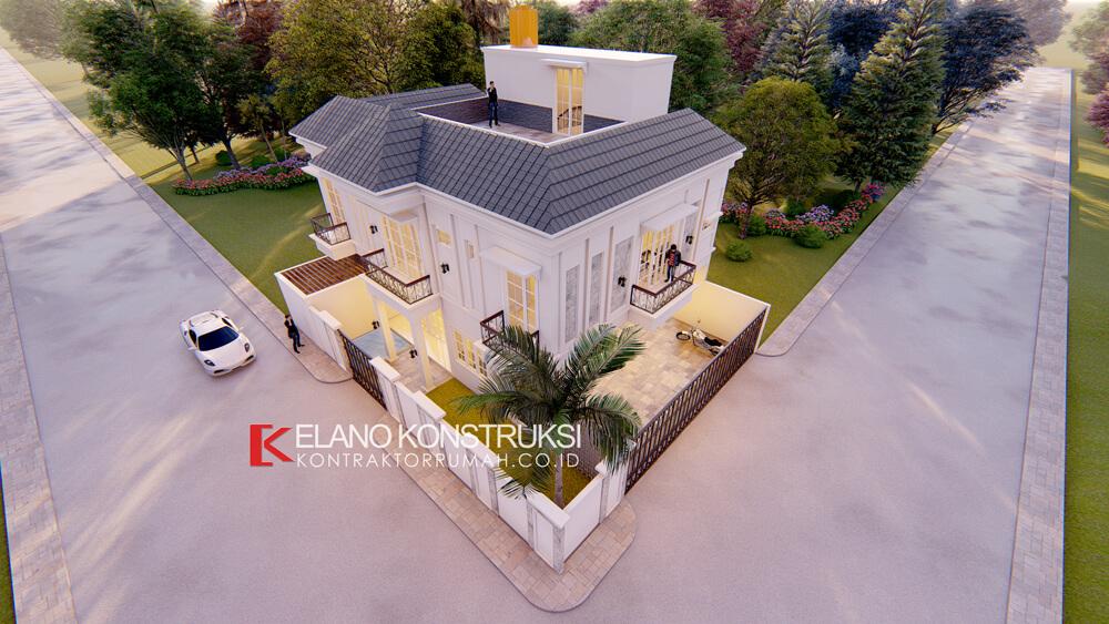 x4 - Desain Rumah Klasik Bapak Difal 260 M2 di Jakarta