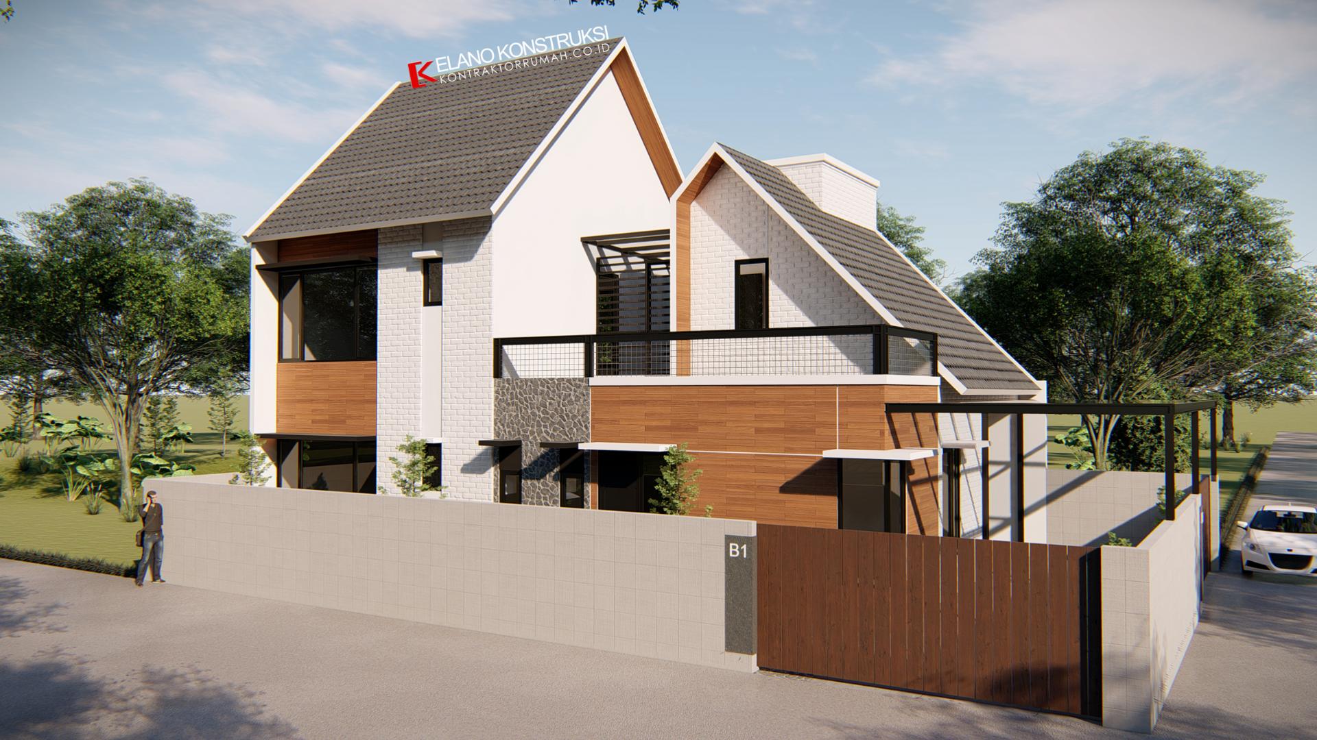 jasa desain rumah 1 - Desain Rumah Industrial Ibu Vidya 199 M2 Jakarta