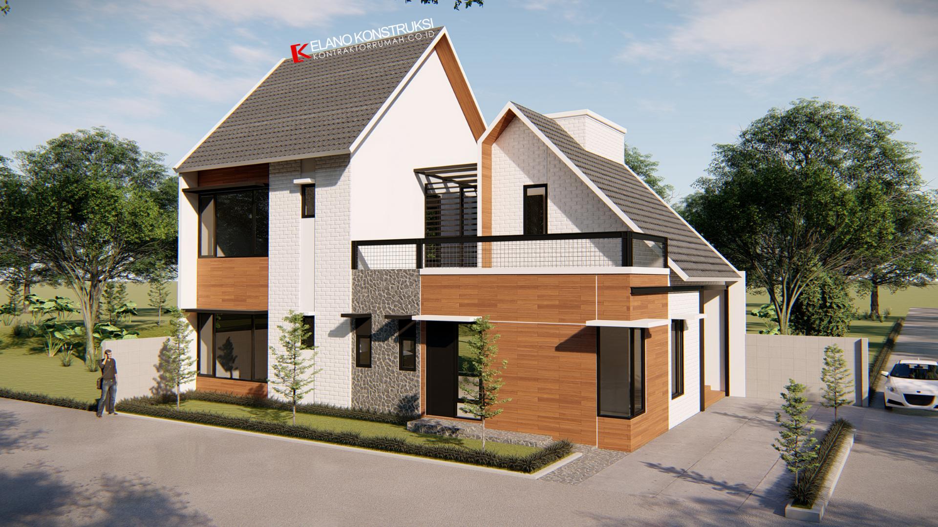jasa desain rumah 2 - Desain Rumah Industrial Ibu Vidya 199 M2 Jakarta