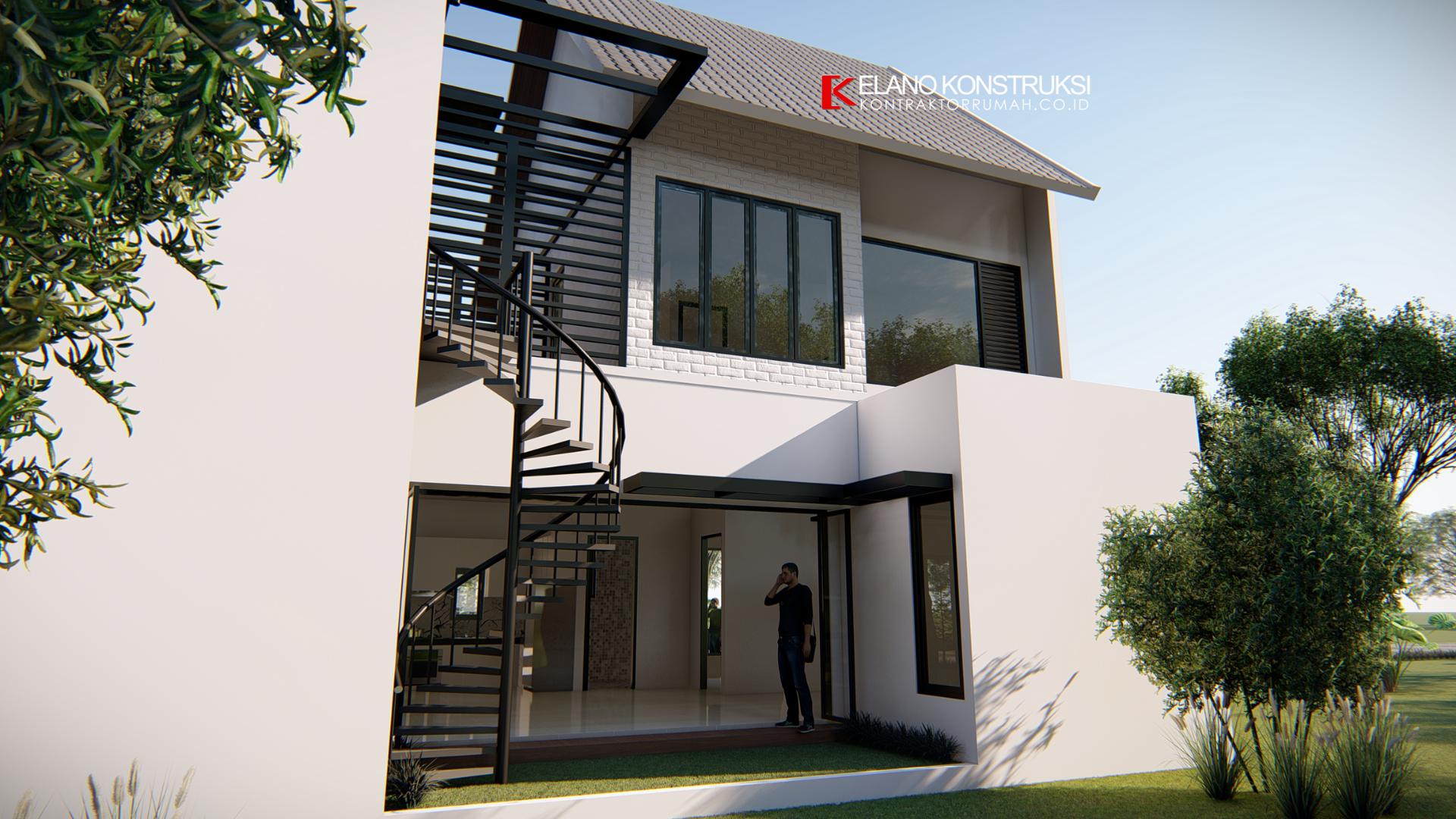 jasa desain rumah 4 - Desain Rumah Industrial Ibu Vidya 199 M2 Jakarta