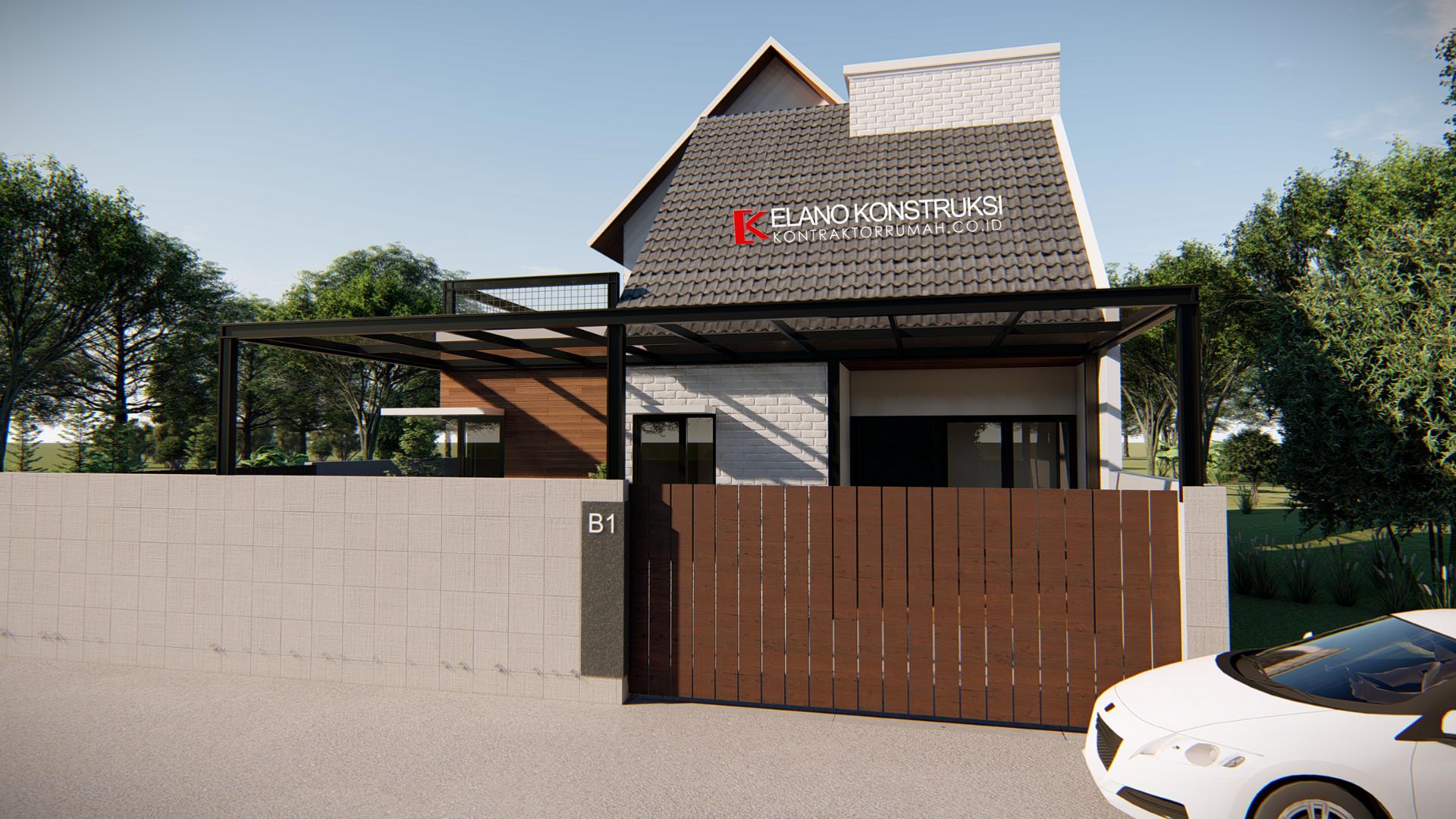 jasa desain rumah 6 - Desain Rumah Industrial Ibu Vidya 199 M2 Jakarta