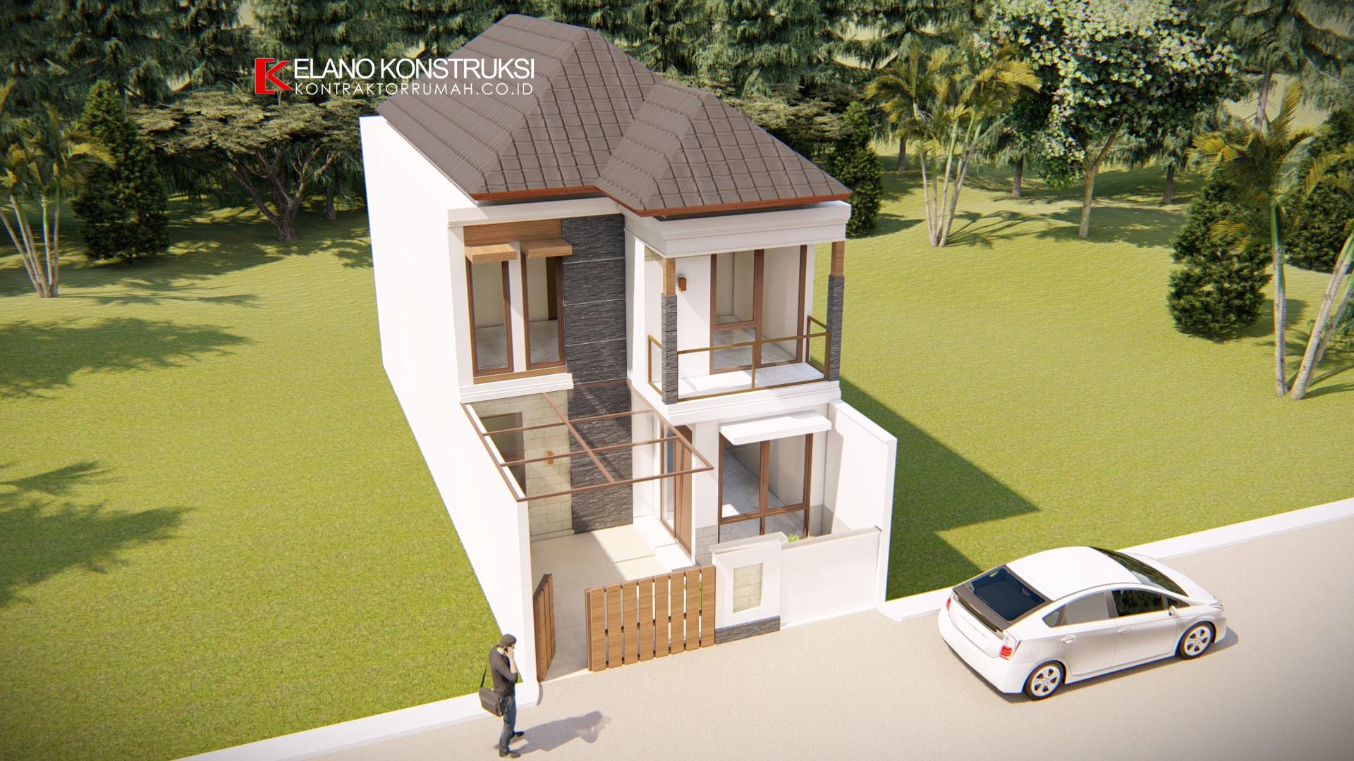 4 2 - Desain Rumah Minimalis Ibu Novi 140 M2 Tangerang
