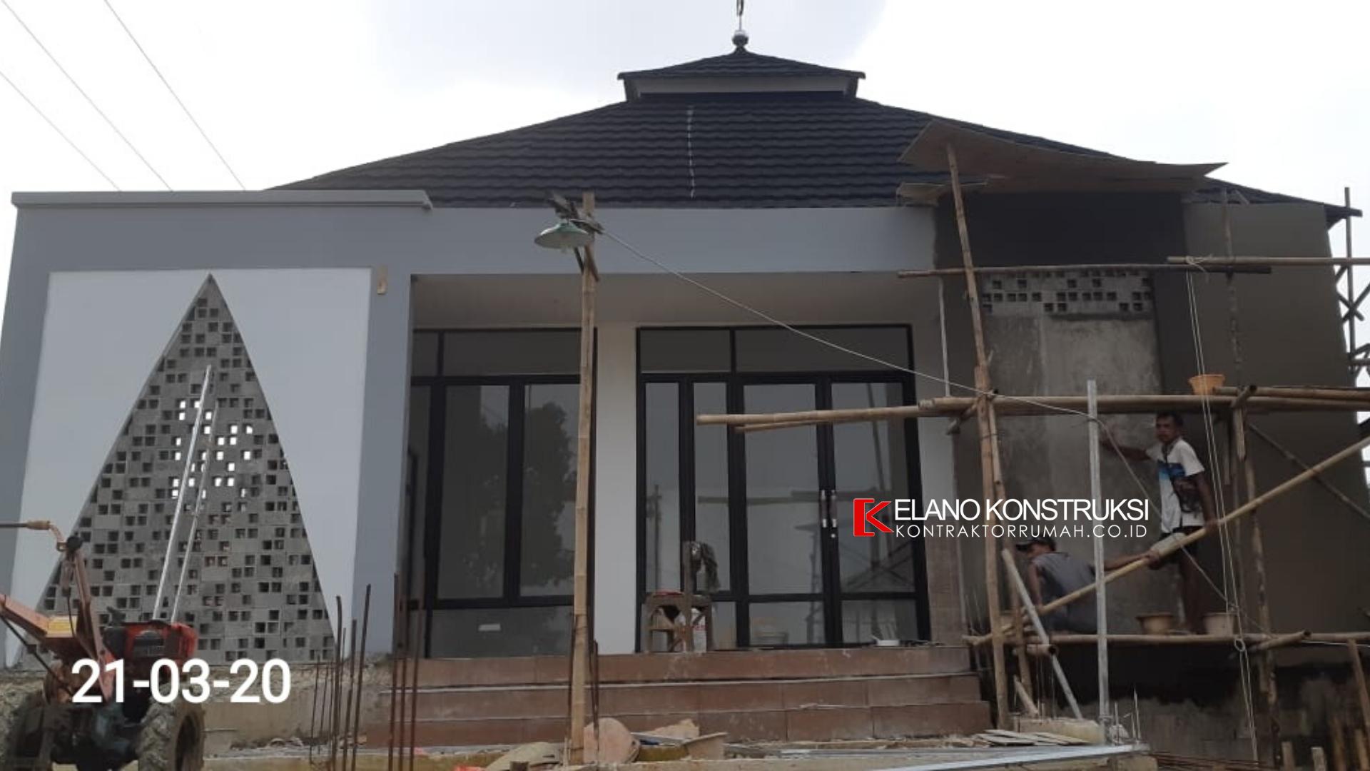 1 1 - Konstruksi Masjid Pesantren Alanwariyah 230 M2 Banten Jawa Barat