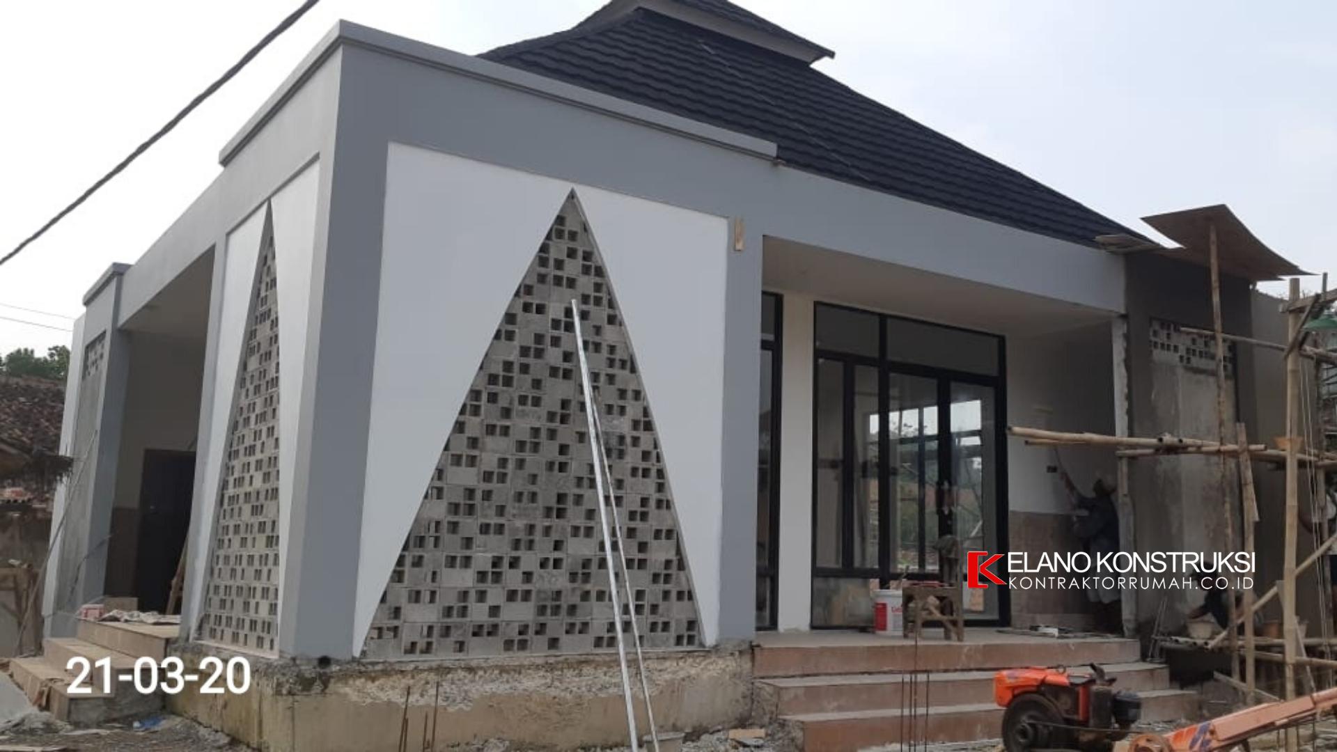 3 1 - Konstruksi Masjid Pesantren Alanwariyah 230 M2 Banten Jawa Barat