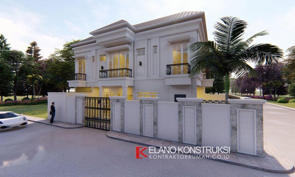 jasa desain rumah klasik bapak difal 1 - JASA DESAIN RUMAH MINIMALIS