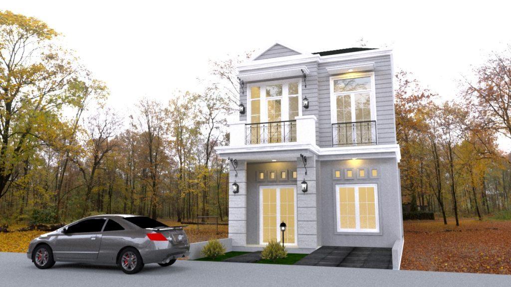 Desain Rumah di Mustika Jaya