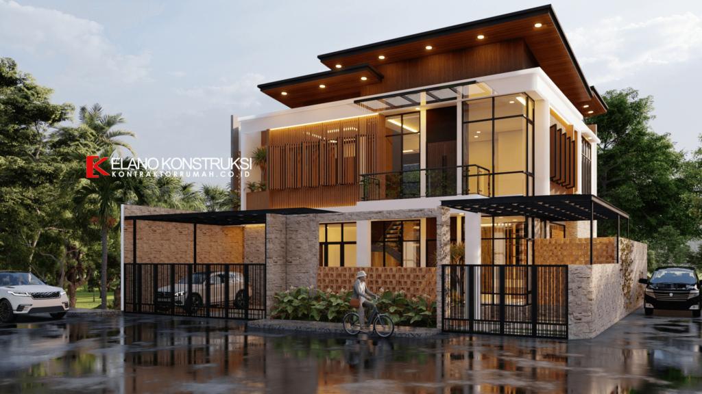 Desain Rumah Bernuansa Kayu
